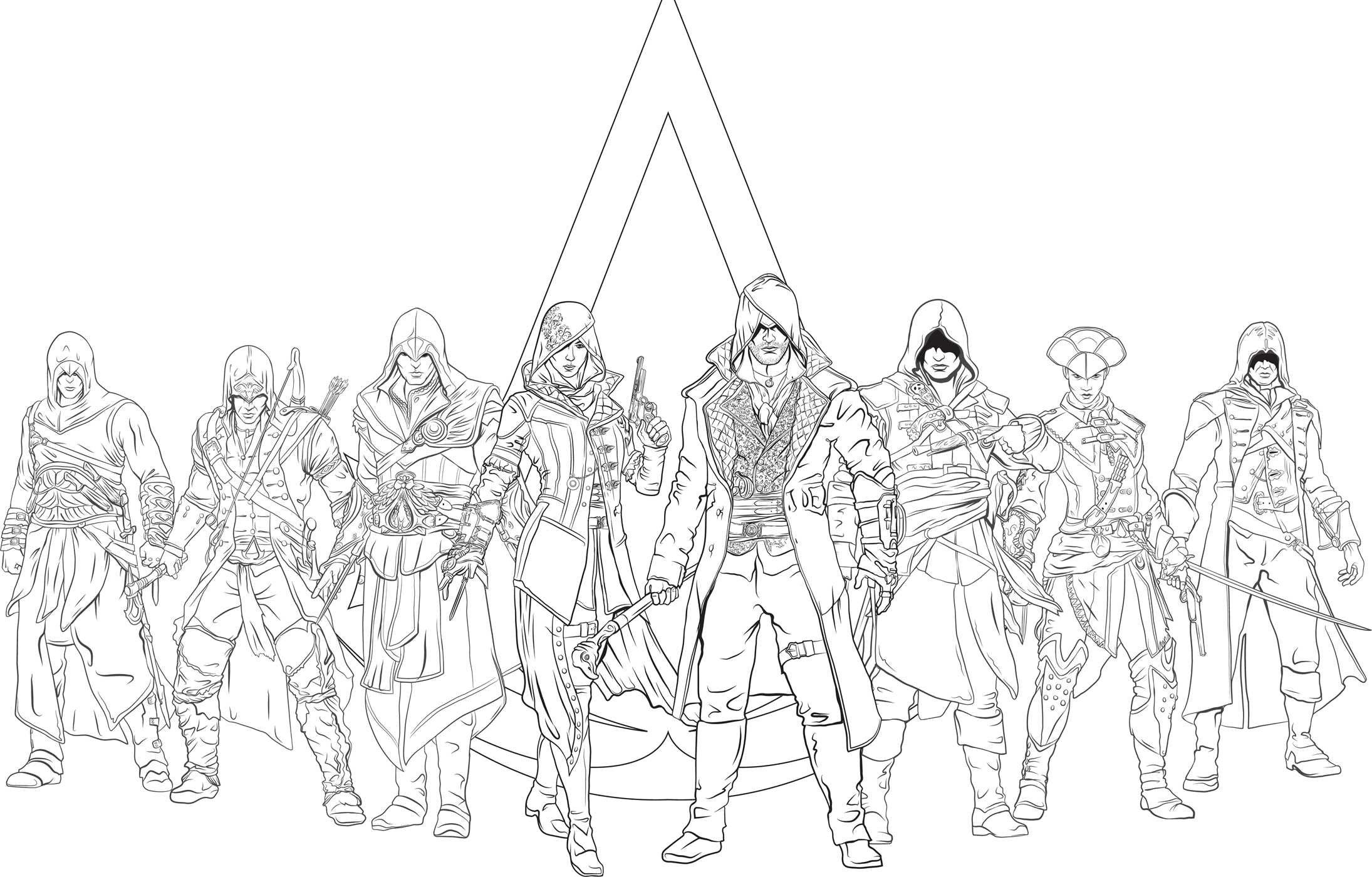 Amazon Com Assassin S Creed The Official Coloring Book