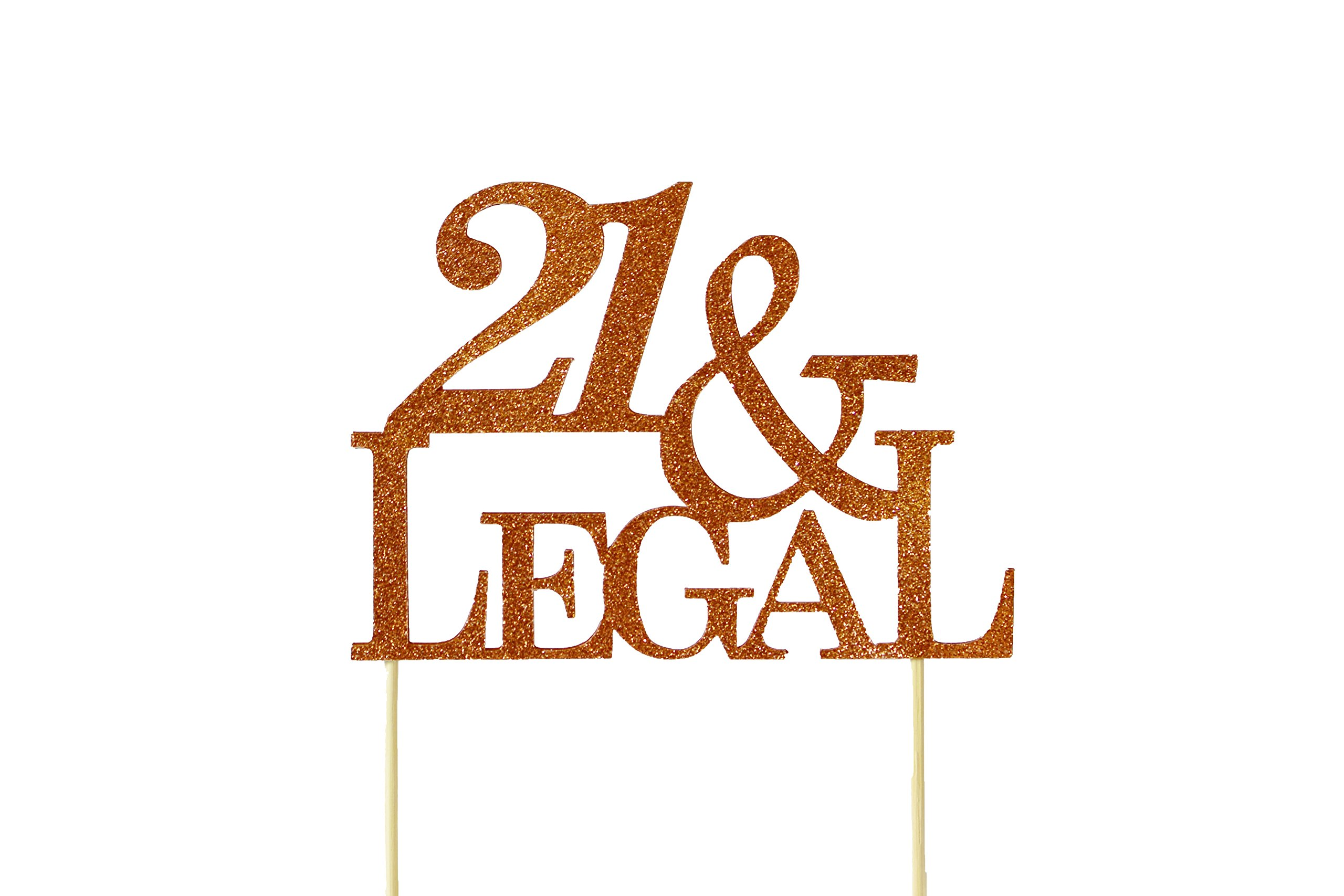 All About Details Copper 21-&-legal Cake Topper
