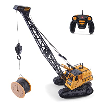 Top Race 12 Channel Remote Control Crane, Battery Powered Radio Control Construction Crane with Lights & Sound (TR-114): Toys & Games