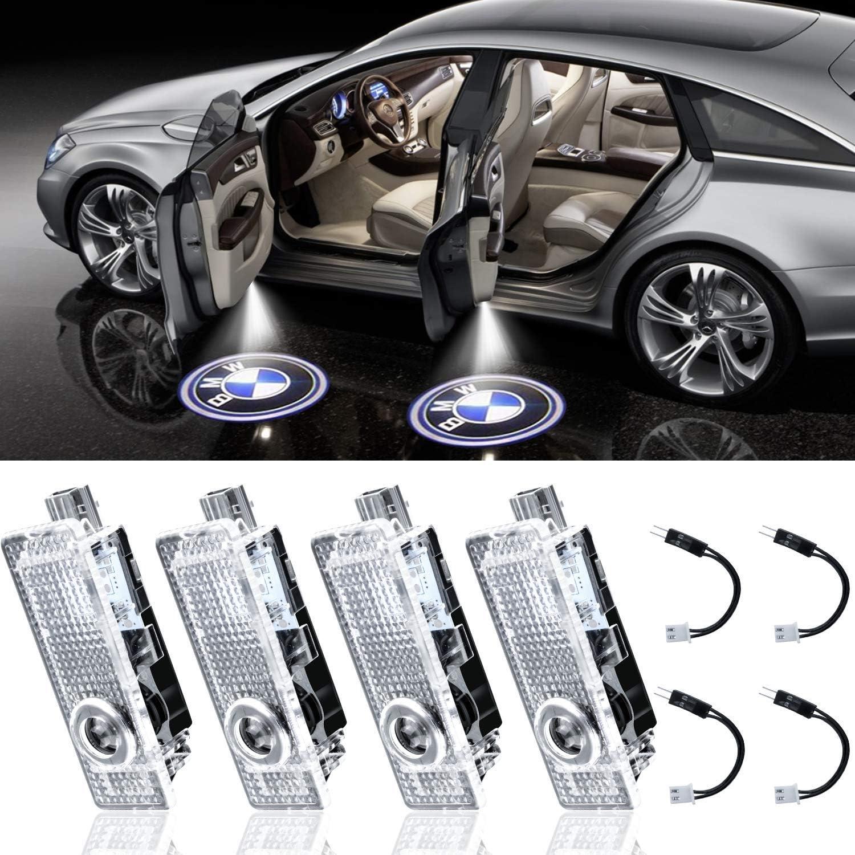 2-Pack Grolish Car Door LED Logo Lighting Projector Welcome Lights For 3//4//5//6//7//Z//GT Series