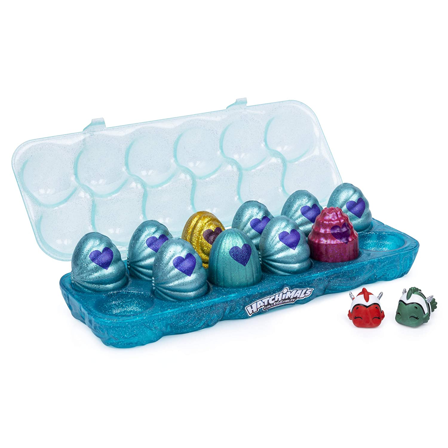 Hatchimals CollEGGtibles, Mermal Magic 12 Pack Egg Carton with Season 5, for Kids Aged 5 and Up (Styles May Vary)