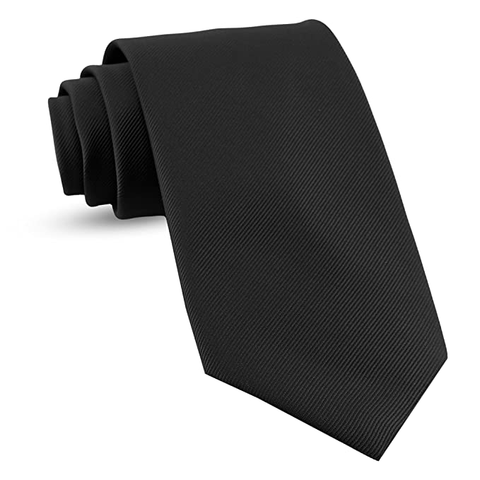 372050d1a483 Handmade XL Black Ties For Men Woven Big and Tall Tie Mens Ties : Solid  Color