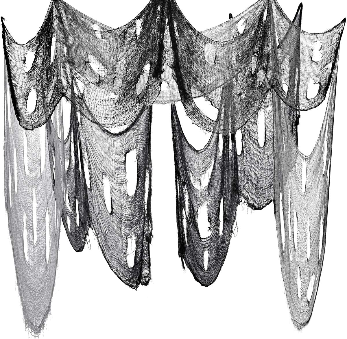 Halloween Creepy Cloth, Spooky Fabric Cloth for Halloween Party, Doorway Outdoors Decoration 2PCS