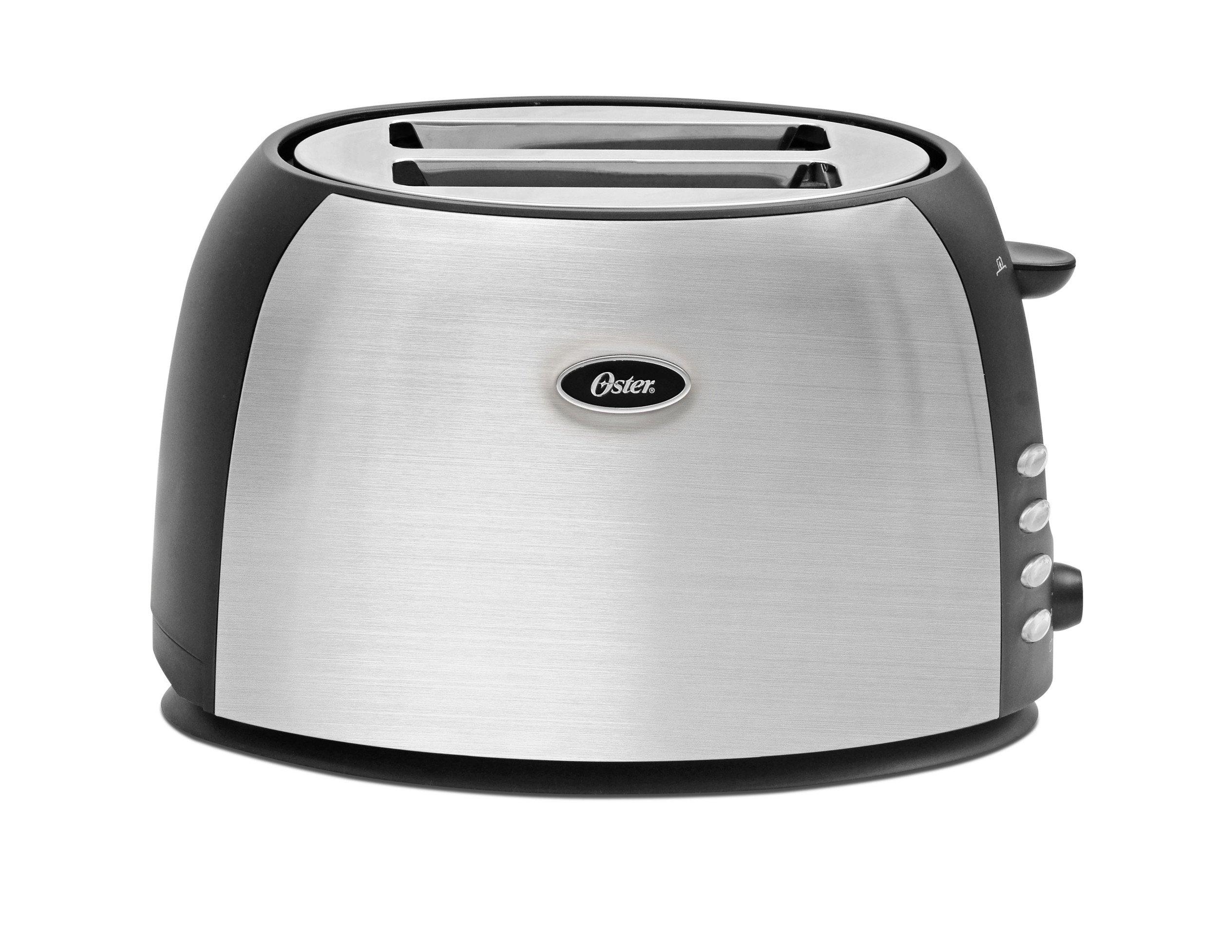 Oster 2 Slice Toaster, Brushed Stainless Steel (TSSTJC5BBK) by Oster