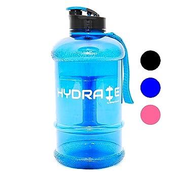 Botella de agua de 2,2 litros, con tapa para beber fácilmente