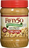 Fifty-50 Low Glycemic Peanut Butter Creamy, 18 Ounce (Pack of 6)