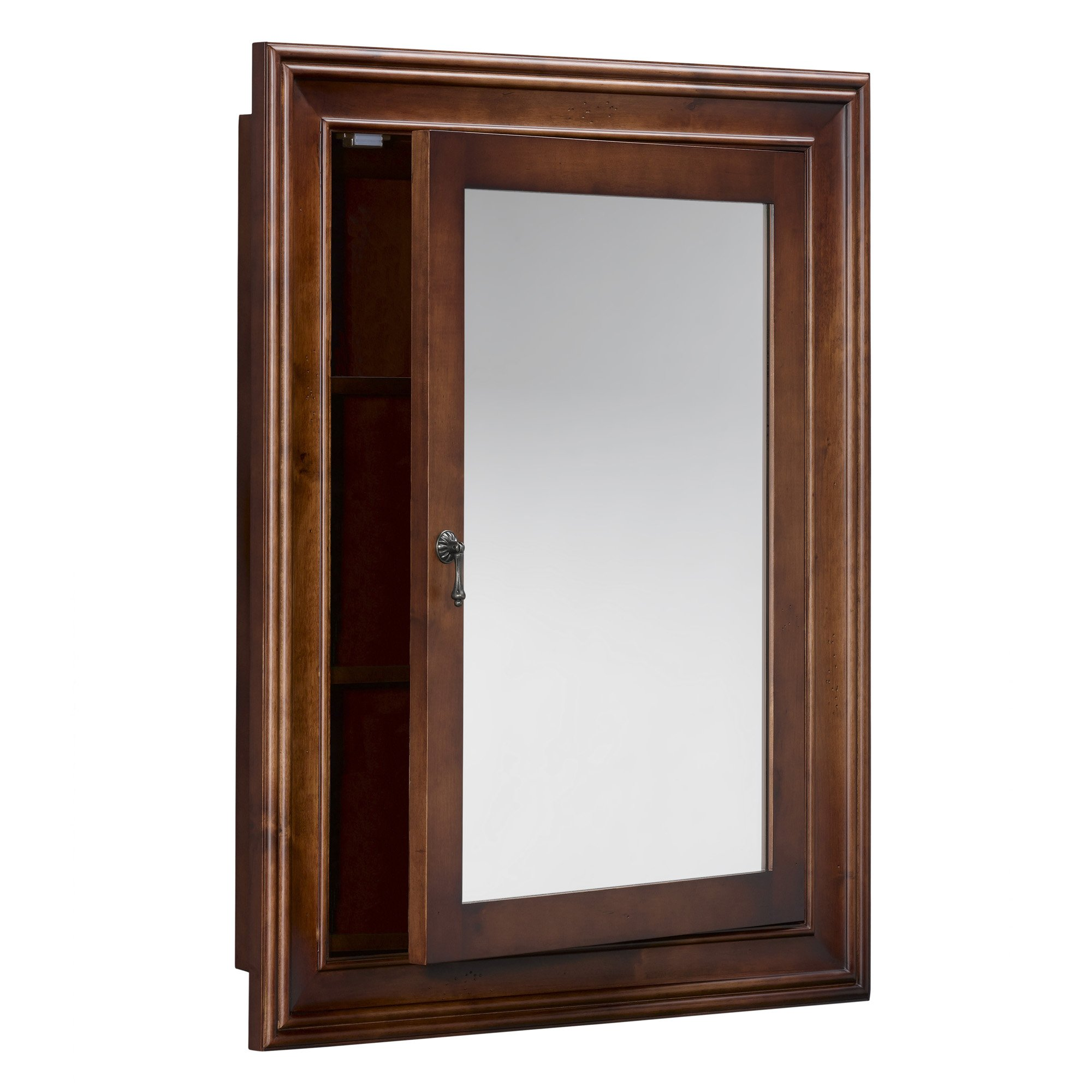 RONBOW Henry 27'' x 34'' Traditional Solid Wood Frame Bathroom Medicine Cabinet with 2 Mirrors and 2 Cabinet Shelves in Colonial Cherry 611027-F11