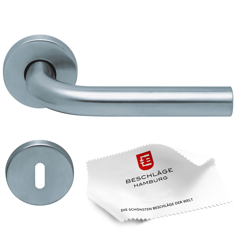 Tiradores de puerta de herrajes Hamburgo: Haeusler-Shop Scoop SBL 1100? Puerta Jack para habitaciones puertas? Picaporte/puerta (para puertas interiores, redondo, acero inoxidable mate