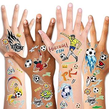 Amazon.com: Konsait - Tatuajes de balón de fútbol para niños ...