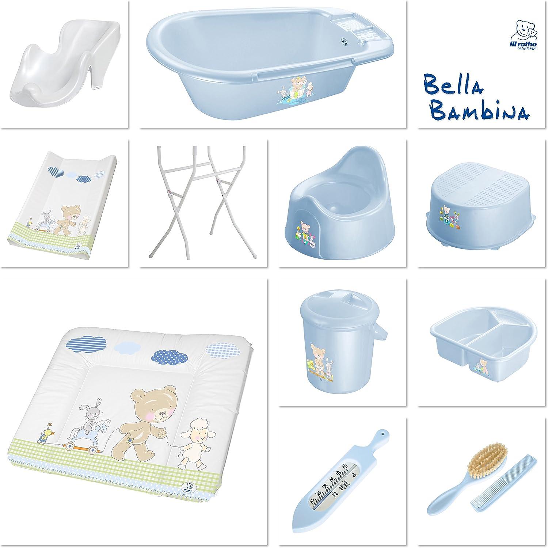 200210103AZ 10l Bella Bambina Babybleu Pearl Bleu clair Best Friends D/ès la Naissance Rotho Babydesign Poubelle /à Couches