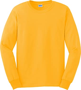 Gildan Ultra CottonTM Adult long sleeve t-shirt: Amazon.co.uk ...