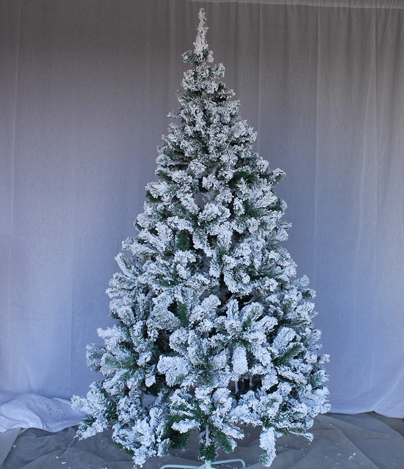 Amazon.com: Perfect Holiday Christmas Tree, 5 Feet, Flocked Snow: Home U0026  Kitchen