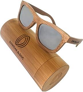 Occhiali da in bambù Naudamp in sole polarizzati Occhiali Uomo Donna aUdwgnx