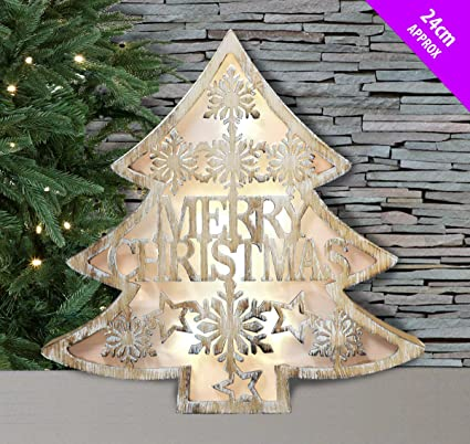Amazon.com: DP Led Wall / Free Standing Wooden Box Light Merry ...
