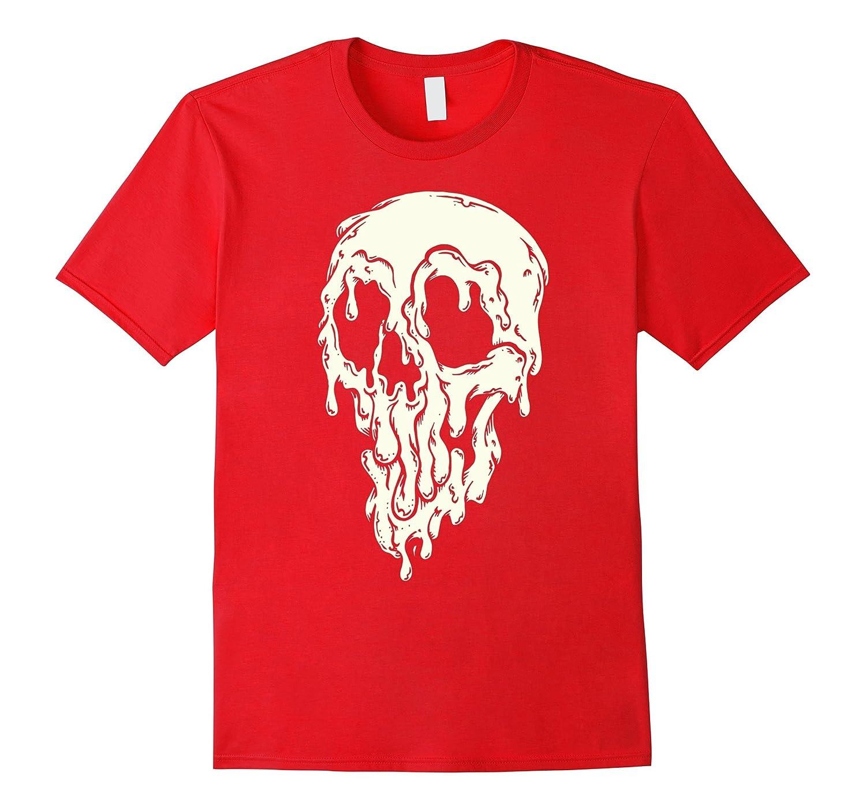 Big Drippy Skull - Halloween T-Shirt-CL