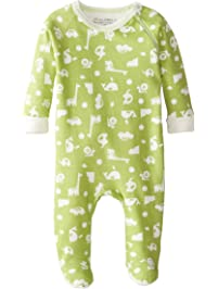 Kushies Baby It's My Planet 2 Side Zip Sleeper, Green Print, 3 Months