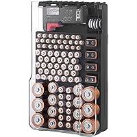 O organizador de bateria TBO1531 A capa de armazenamento de bateria com capa transparente articulada, inclui um testador…