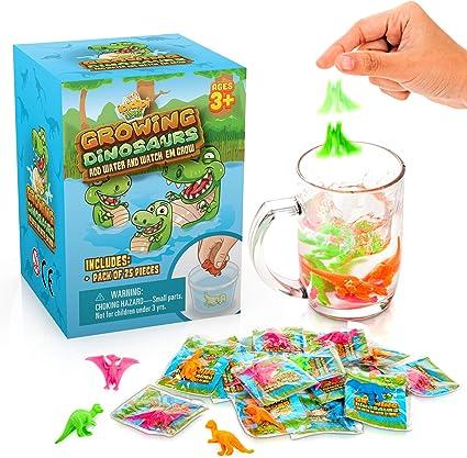 Amazon.com: Dinosaurios que crecen en el agua, paquete de 25 ...