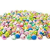 Fun Central AU197 250 pieces, 27mm Assorted Bouncing Balls Bulk For Kids, Rubber Swirl Bouncing Balls, High Bouncing Balls