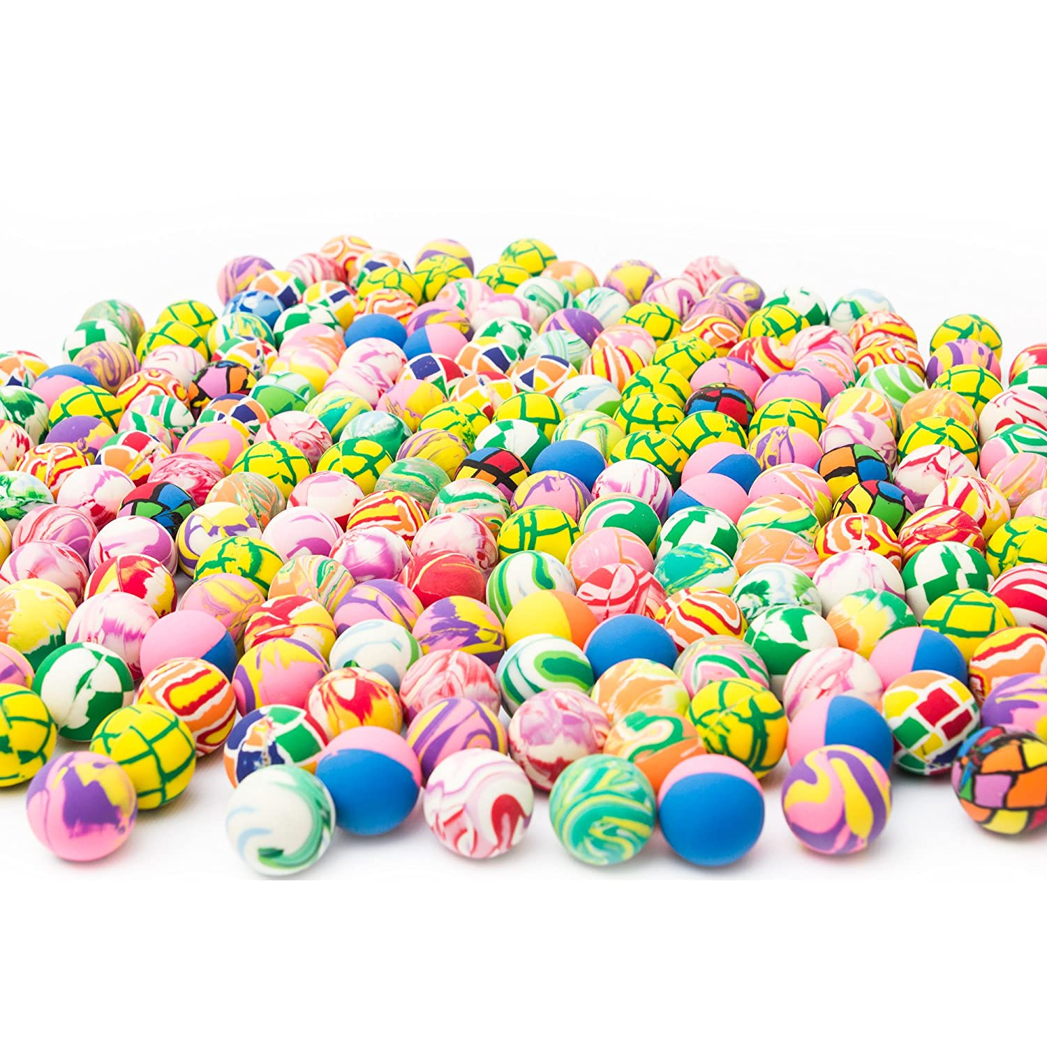 Fun Central AU197 Bouncy Balls - Assorted, 250Ct, 27 Mm