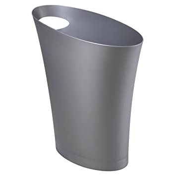 Amazoncom Umbra Skinny Trash Can Sleek Stylish Bathroom Trash