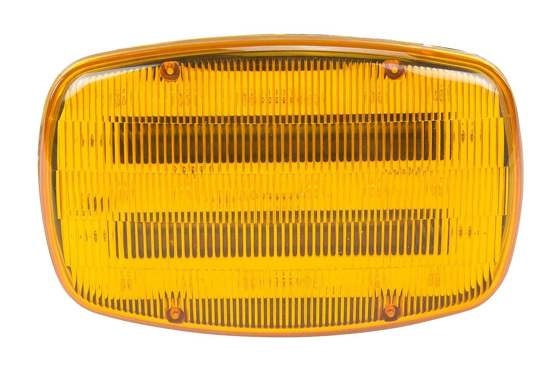 Led Amber Strobe Light 18 Leds Battery Powered Dual Magnetic