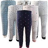 Kyda Kids Cotton Baby Rib Pant Mixed Prints (Pack of 6)
