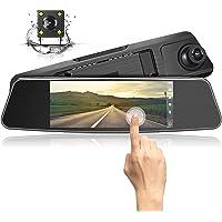 """Jeemak Telecamera per Auto, Dash Cam 1080P Dual Lens 7"""" Touch screen IPS, Telecamera Grandangolare Anteriore e Telecamera Posteriore impermeabile, con sensore G Monitor di rilevazione del movimento"""