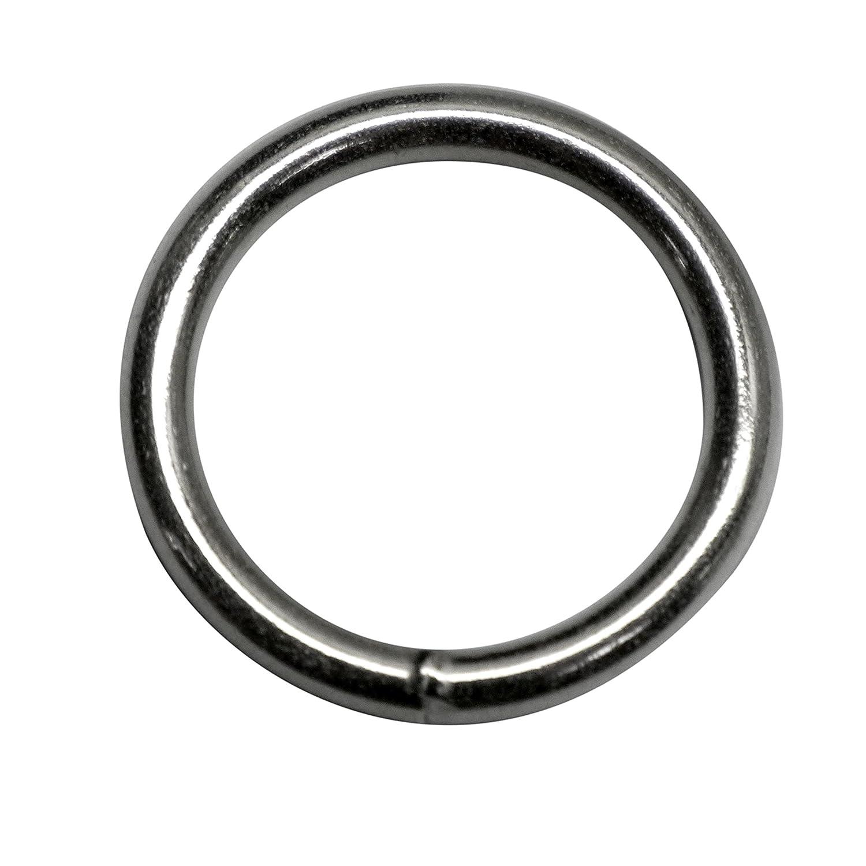 30mm rond (Dimensions intérieures) O bague Anneaux, soudé en acier, de 4,0mm d'épaisseur, nickelé, Lot de 15 0mm d' épaisseur Kacperek