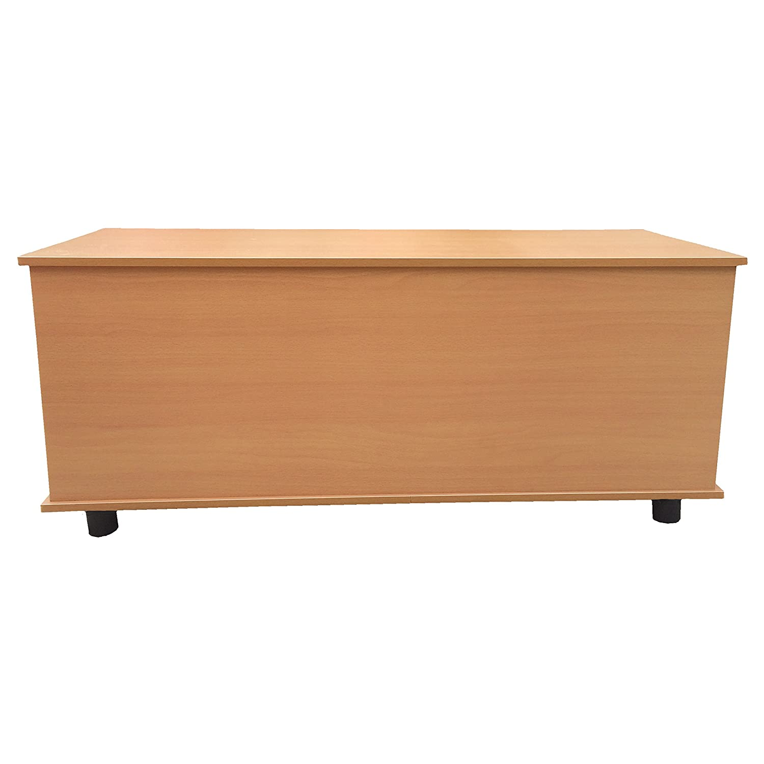 Large Wooden Ottoman Toy Box Trunk Chest Wooden Storage Bench Lid