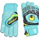 Uhlsport Goalkeeper Gloves Eliminator Soft RF comp Multi-Coloured Eisblau/Schwarz/Fluo Gelb