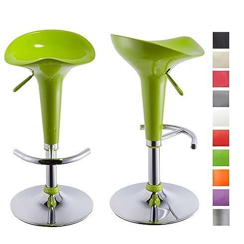 Barhocker Grün 2er set barhocker grün kunststoff barstuhl höhenverstellbar