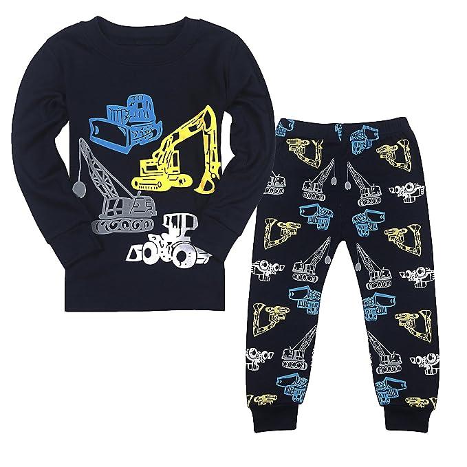 Qtake Fashion - Pijama Dos Piezas - para Niño Navy Blue2 1-2 Años