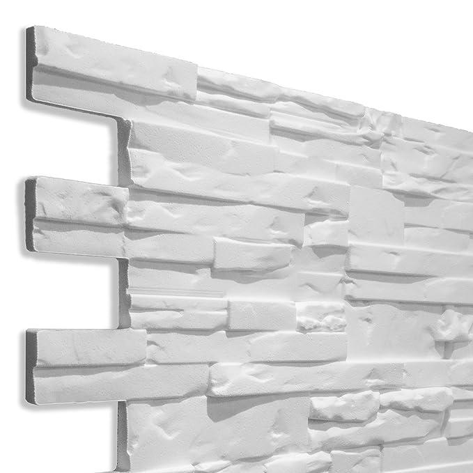 Decoresin Falso Panel Imitación Piedra Reconstituida en Poliestireno Expandido. Plancha Decorativa ideal para el refuerzo de Aislamiento Térmico para pared.