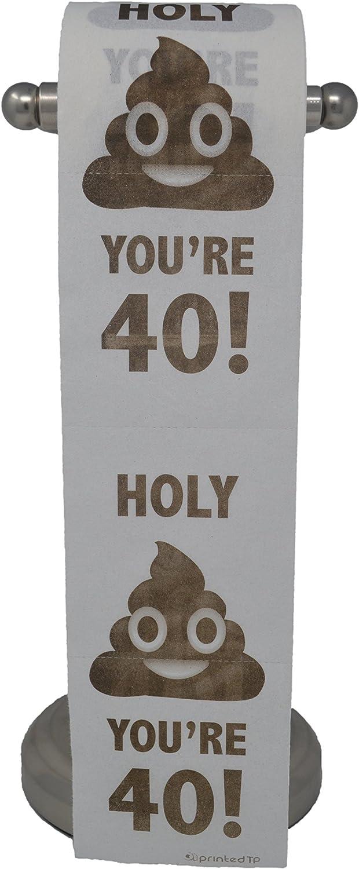 Amazon.com: Happy 40th cumpleaños papel higiénico Prank ...