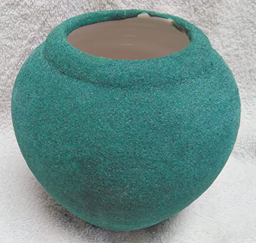 Amazon Handmade Green Vase With Sandstone Finish Made By
