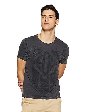 e2c75f63 Ed Hardy Men's Printed Slim Fit T-Shirt (EHTS1118_Charcoal Grey_M)