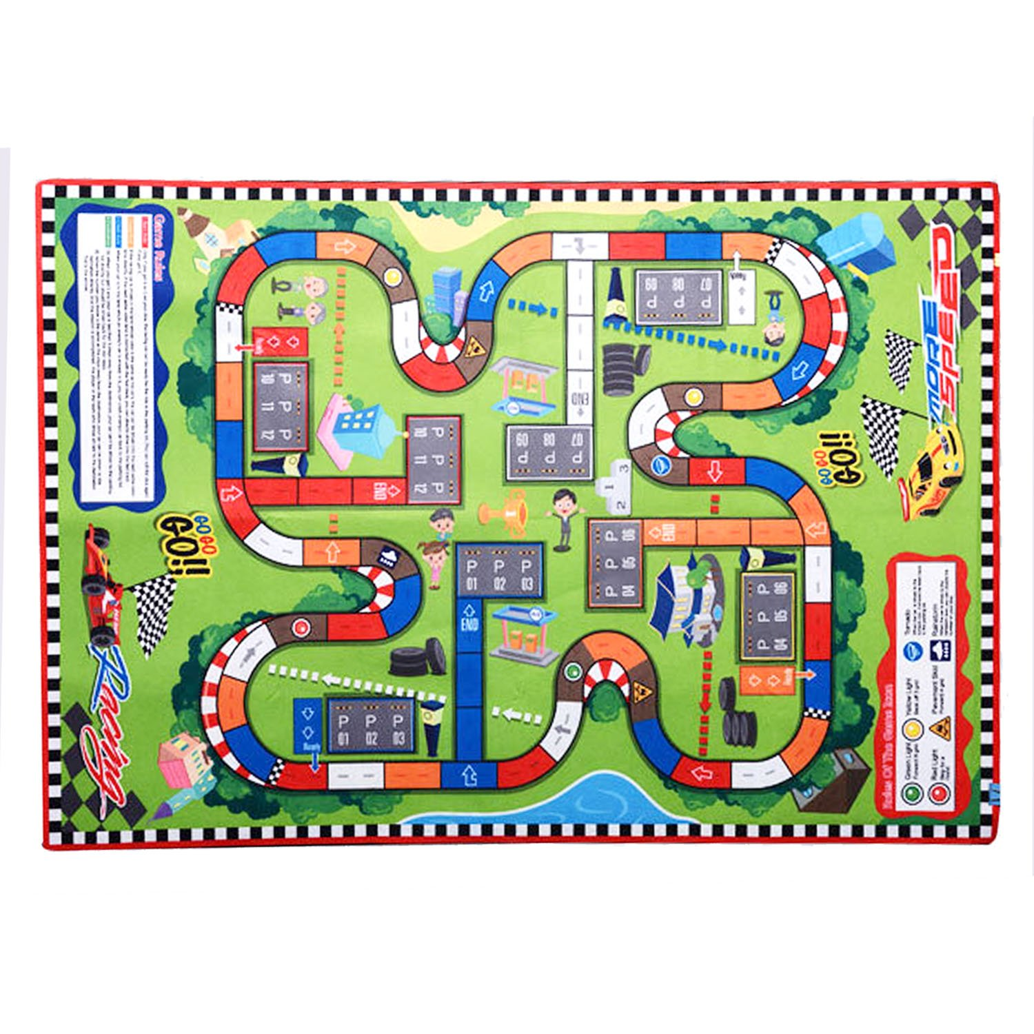 Kids' Rugs Large (57'' X39'') Rug City Life Great For Playing With Cars & Toys,Children Educational Road Traffic Play Mat, Kids Carpet Playmat Rug, Ideal Gift For Kids Travel/Indoor/Outdoor Safely