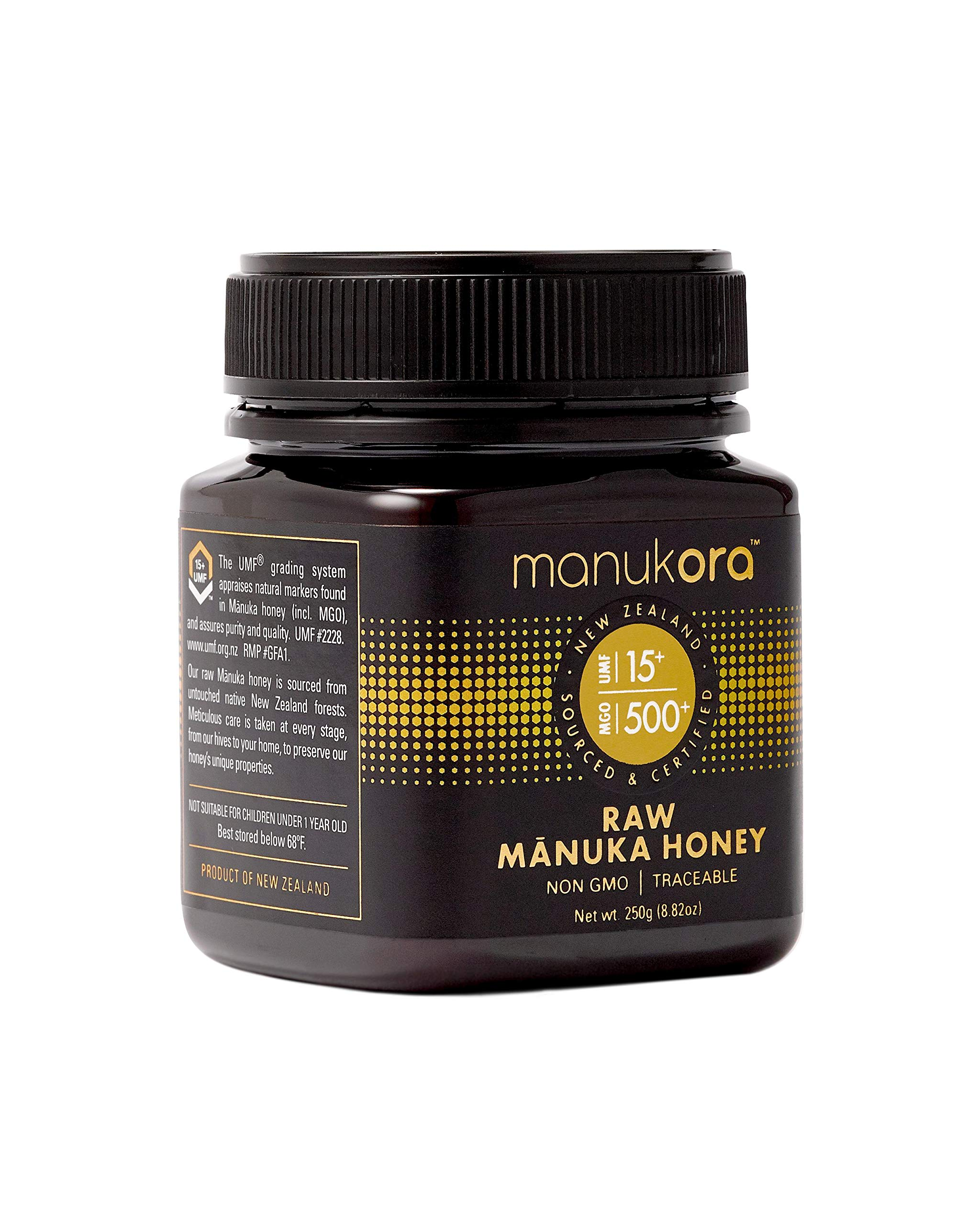 Manukora UMF 15+/MGO 500+ Raw Mānuka Honey (250g/8.8oz) Authentic Non-GMO New Zealand Honey, UMF & MGO Certified, Traceable from Hive to Hand by Manukora (Image #2)