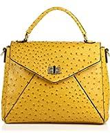 Noble Mount Ostrich Finish Envelope Satchel/Handbag