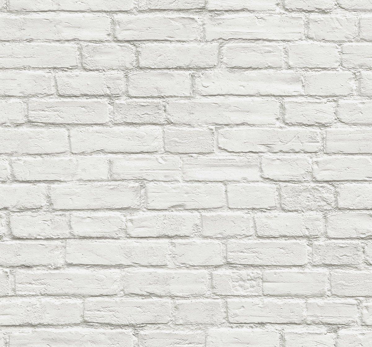 NextWall Vintage White Brick Peel and Stick Wallpaper