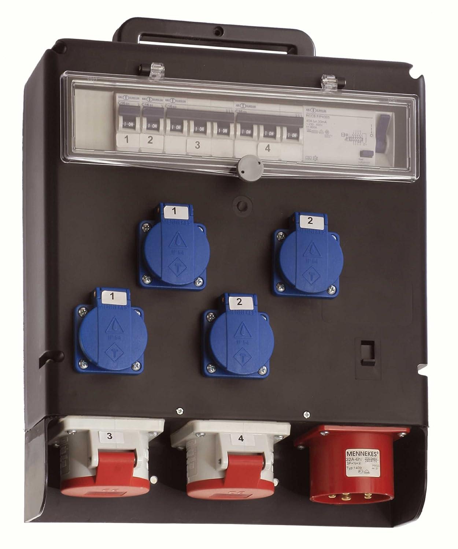 as - Schwabe 60516 Stromverteiler 400V FIXO III, IP44 Gewerbe, Baustelle
