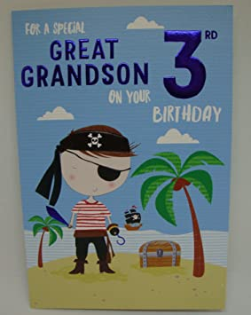 Great grandson 3rd birthday card amazon office products great grandson 3rd birthday card bookmarktalkfo Images
