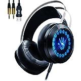 Cuffie Gaming Headset ,AOSO G400 Cuffie da Gioco stereo Over-Ear con microfono e luce pulsante a led per PS4 Music
