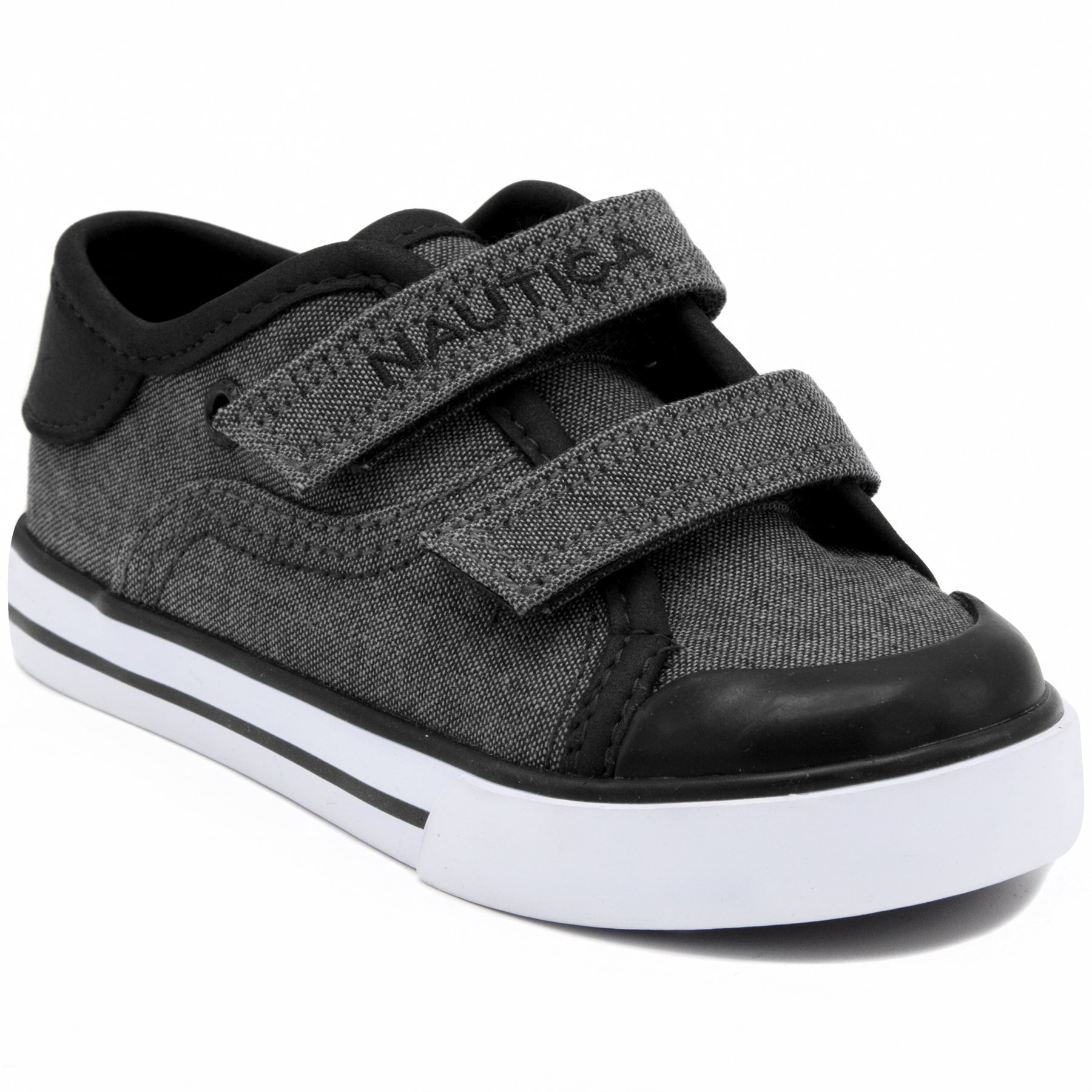 Nautica Boys' Bobstay Slip-on, Black Mix, 9 M US Toddler