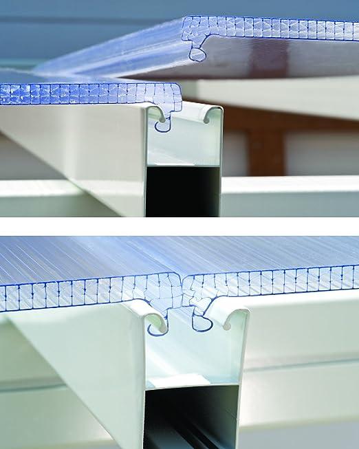 Palram Pergola Feria Blanca 3x4.2- Aluminio y policarbonato ...