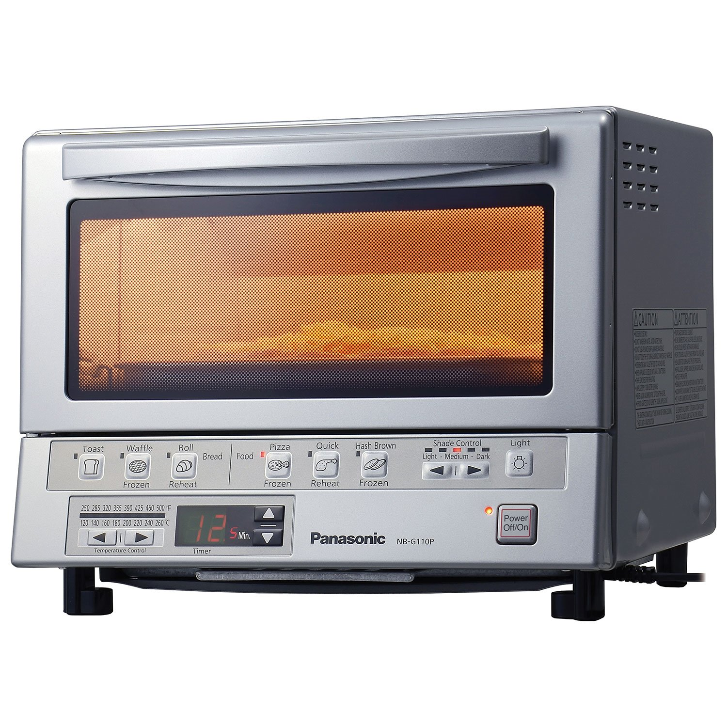 Panasonic FlashXpress Double Infrared Toaster Oven (NBG110P) - Silver