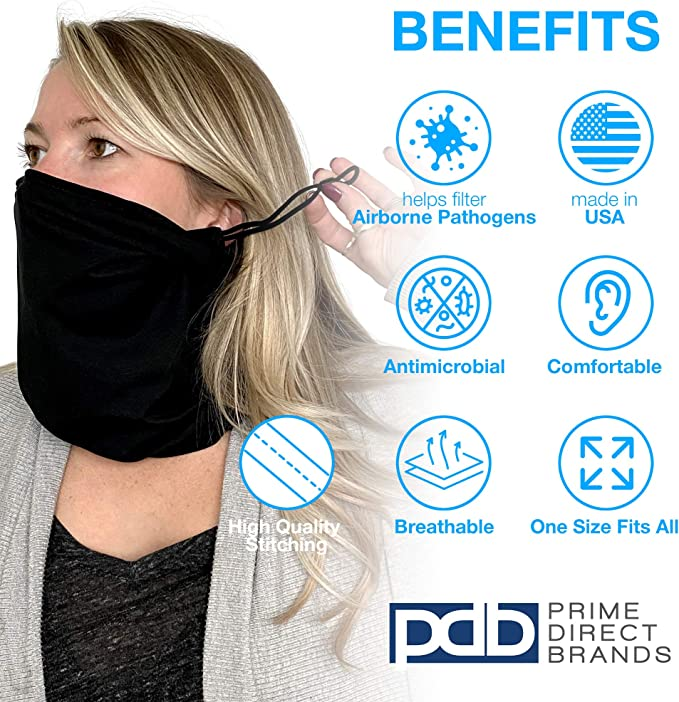 Antimicrobial Face Mask TakeCover Brand Neck Gaiter Face Mask MADE IN USA
