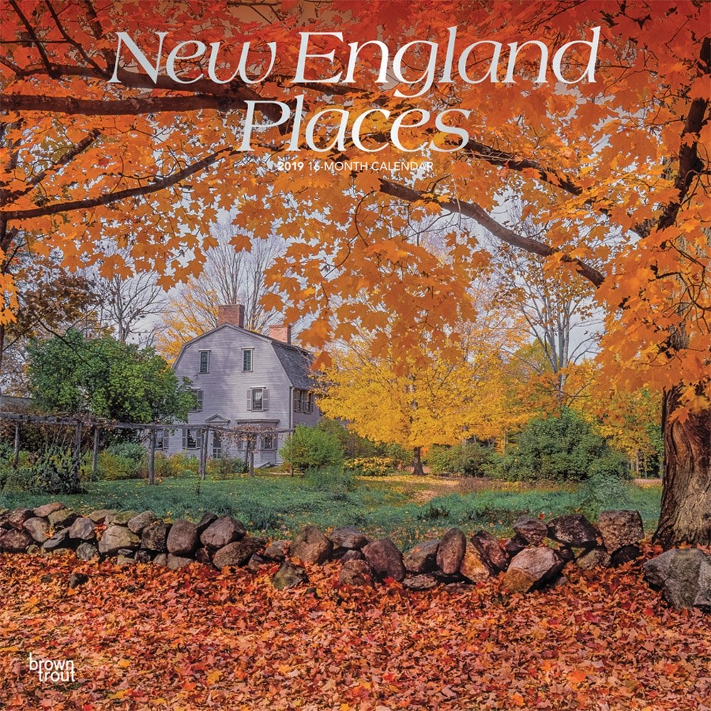 New England Places 2019 12 x 12 Inch Monthly Square Wall Calendar, USA United States of America East Coast Scenic Nature pdf epub