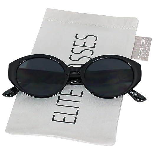 3c7b207cef018 Elegant Retro Oval Mod Cat Eye Women Vintage Clout Goggles Supreme Cool  Sunglasses (Black)